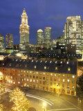 Skyline of Central Business District in Boston  Massachusetts