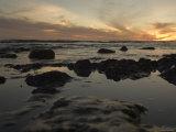 Tidal Water at Sunset Close-Up  California