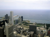 View from the Sears Tower in Chicago  Illinois