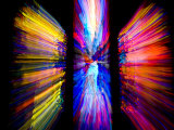 Stained Glass Windows Give Abstract Colors to a Motion Photo  Washington  DC