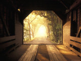 View from Inside a Covered Bridge in Virginia's Shenandoah Valley
