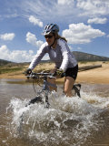 Woman Mountain Bikes Through Wild and Scenic South Fork Kern River