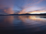 Sunset over Lake Tahoe  California