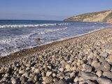 Waves Break on the Rocks at Chinese Harbor Beach on Santa Cruz Island  California