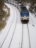 Train Cuts Across Fresh Snow