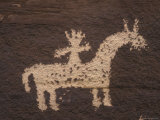 Wolfe Ranch Ute Petroglyph Panel of Horse and Rider