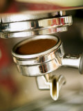 Filter Holder Being Fitted on Espresso Machine