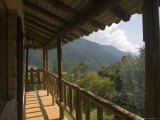 Wooden Balcony of Venezuelan House with View of Andean Cloud Forest