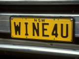 Wine for U Number Plate  Griffith  Australia