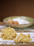 Home-made Ribbon Pasta and Ingredients Papier Photo