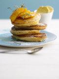 Pancakes with Orange Slices and Maple Syrup Papier Photo par Jan-peter Westermann