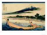 36 Views of Mount Fuji  no 28: Shore of Tago Bay  Ejiri at Tokaido