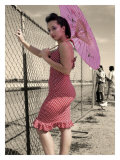 Pin-Up Girl with Parasol
