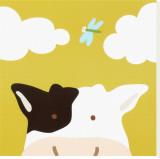 Vache, Peek-a-BooIII Tableau sur toile par Yuko Lau