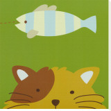 Chat, Peek-a-Boo II Tableau sur toile par Yuko Lau