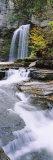 Stream Flowing Below a Waterfall  Eagle Cliff Falls  Montour Falls  Havana Glen  New York  USA
