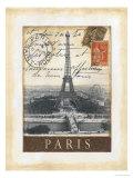 Destination Paris Reproduction d'art par Tina Chaden