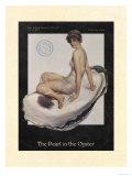 La Perle dans l'huître Reproduction d'art