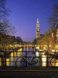 Prinsengracht and Wsterkerk  Amsterdam  Holland