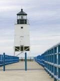 Charlevoix Lighthouse on Lake Michigan  Michigan  USA
