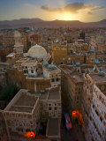 Skyline of Sanaa, Yemen Papier Photo par Michele Falzone
