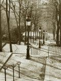 Steps to Montmartre  Paris  France