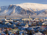 View over Reykjavik in Winter  Iceland