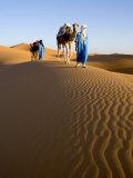 Merzouga, Erg Chebbi, Sahara Desert, Morocco Papier Photo par Gavin Hellier