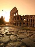 Colosseum and Via Sacra  Sunrise  Rome  Italy
