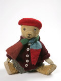 Teddy Bear Wearing Knitted Hat  Scarf  Jacket and Trousers