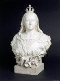 Bust of Queen Victoria in Marble  c1888