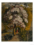 Apple Tree in Blossom In a Shoreham Garden  c1830