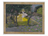 Radha and Krishna in a Grove  India