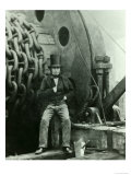 Isambard Kingdom Brunel and the Launching Chains of the Great Eastern  c1857