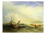 Line Fishing Off Hastings  c1835