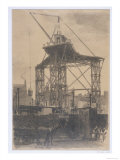 The Scotch Crane  Showing a Huge Derrick Crane on a Building Site in the City  c1904