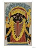 The Goddess Kali Kalighat Style Calcutta  India  1845