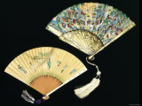 Japanese and Chinese Silk Fans  c1850-70