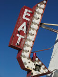 Eat Diner Sign along West 6th Avenue  San Jacinto District  Amarillo  Texas