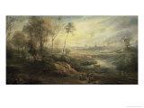 Landscape with a Bird Catcher  17th century