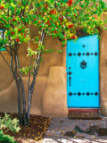 Turquoise Door  Santa Fe  New Mexico