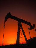 Silhouette of Oil Pump Jack  Tulsa  Oklahoma