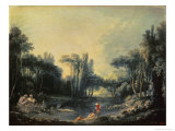 Landscape with a Pond  c1746