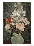 Still Life: Vase with Rose, Mallows Giclée par Vincent Van Gogh