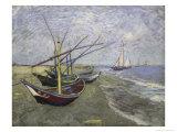 Fishing Boats on the Beachat Saintes  Maries