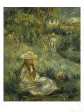 Garden at Mezy: Mlle. Manet Giclée par Pierre-Auguste Renoir