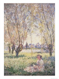 Femme assise sous les saules Giclée par Claude Monet