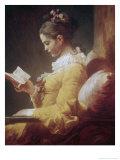 Jeune fille lisant Giclée par Jean-Honoré Fragonard