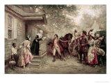 News of Yorktown  Brought to Washington's Mother