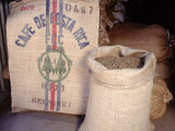 Bags of Coffee Beans in Costa Rica